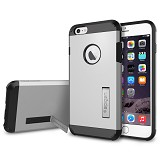 "SPIGEN Apple iPhone 6 Plus (5.5"") Case Tough Armor Series [SGP10917-S] - Satin Silver - Casing Handphone / Case"